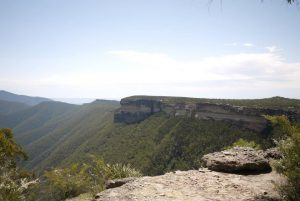 View of Blue Mountains camping spot